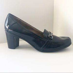 Naturalizer QUASHA Heels black patent loafer 11M